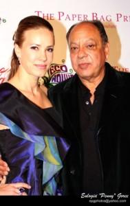 Natasha and Cheech at the Vintage Valentino Fashion Show  benefit for MOCA.