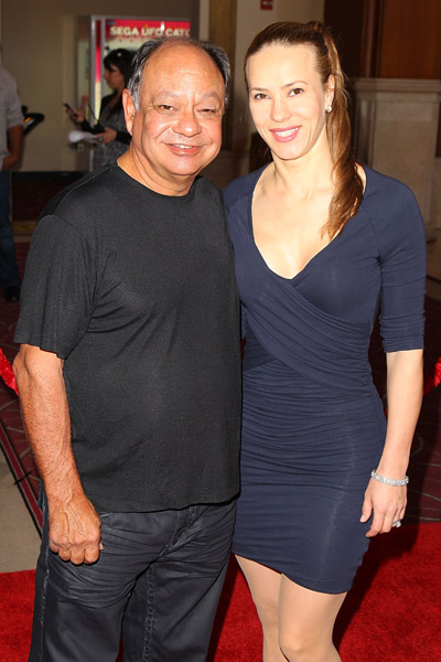 Cheech and Natasha Marin at the Grove Pacific Theaters